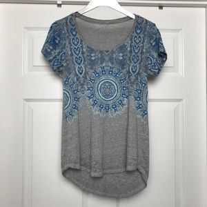 Lucky Brand | Blue and Gray Tee